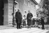 Paul von Hindenburg German field marshal and statesman 2nd President of Gemany 192534 Hindenburg his son Oskar and grandsons on Neudeck manor / West...