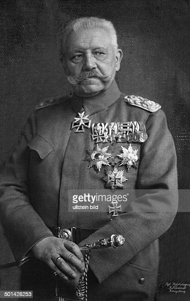 Paul von Hindenburg German field marshal and statesman 2nd President of Gemany 192534 Portrait as a field marshal probably in 1925 Photo Kuehlewindt