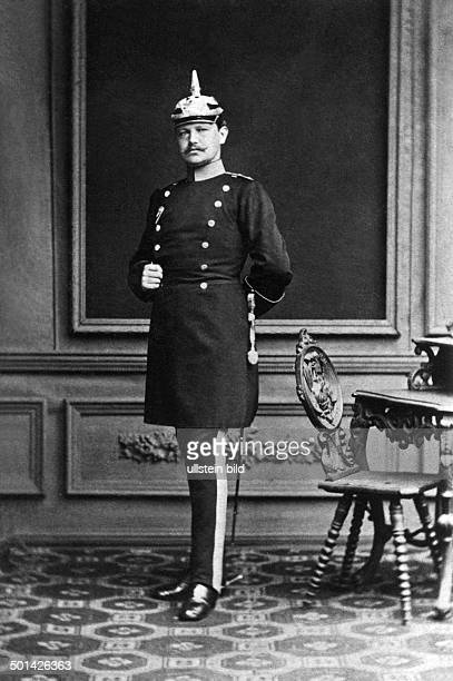 Paul von Hindenburg German field marshal and statesman 2nd President of Gemany 192534 Portrait as a young officer in Stettin 1878
