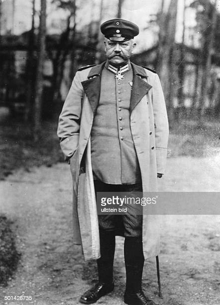 Paul von Hindenburg German field marshal and statesman 2nd President of Gemany 192534 Portrait on the day of his military anniversary in the German...