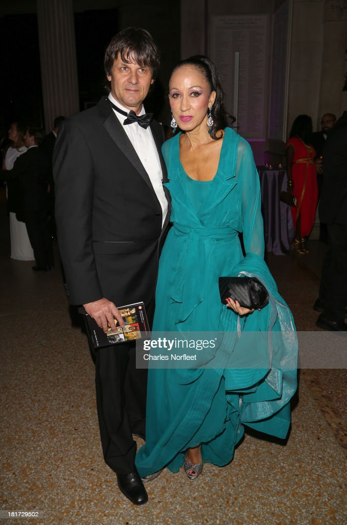 Paul von Ravenstein and supermodel Pat Cleveland attend 2013 Multicultural Gala: An Evening Of Many Cultures at Metropolitan Museum of Art on September 23, 2013 in New York City.