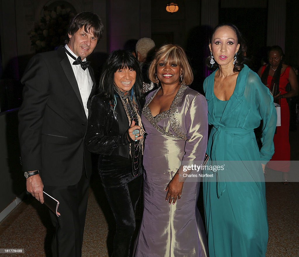 Paul von Ravenstein, Buffy Sainte-Marie, Donna Williams and Pat Cleveland attend 2013 Multicultural Gala: An Evening Of Many Cultures at Metropolitan Museum of Art on September 23, 2013 in New York City.