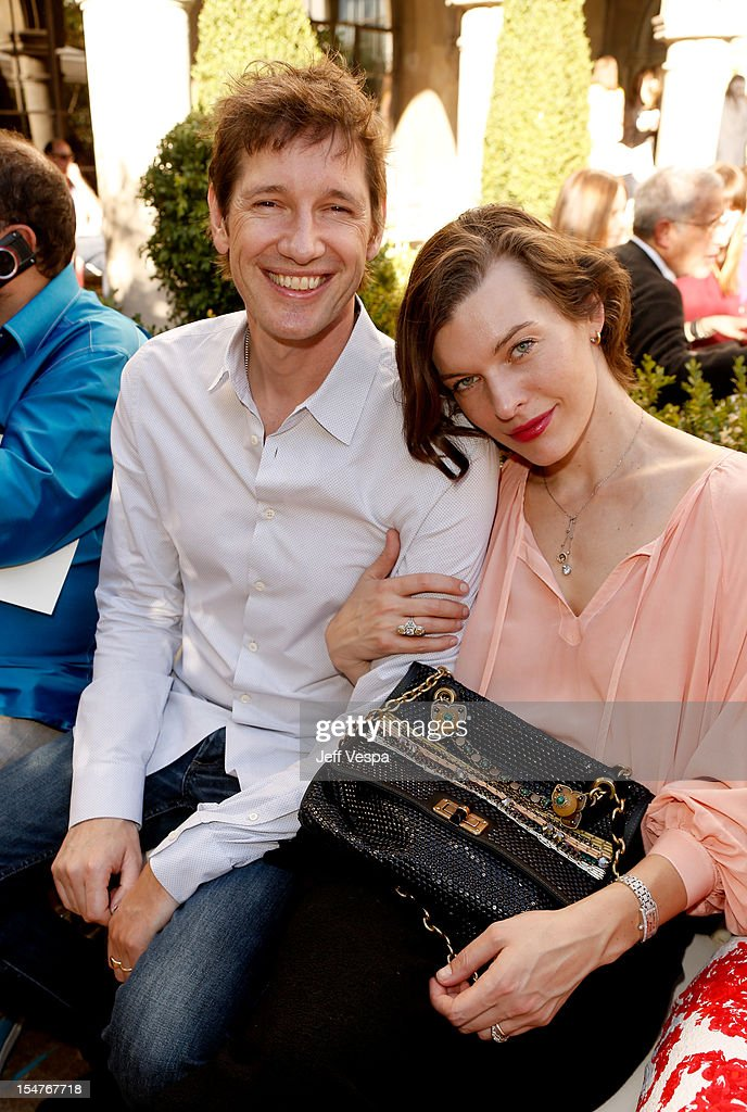 Paul W. S. Anderson and actress Milla Jovovich attends CFDA/Vogue Fashion Fund Event hosted by Lisa Love and Mark Holgate and sponsored by Audi, Beauty.com, American Express, and J Brand at Chateau Marmont on October 25, 2012 in Los Angeles, California.