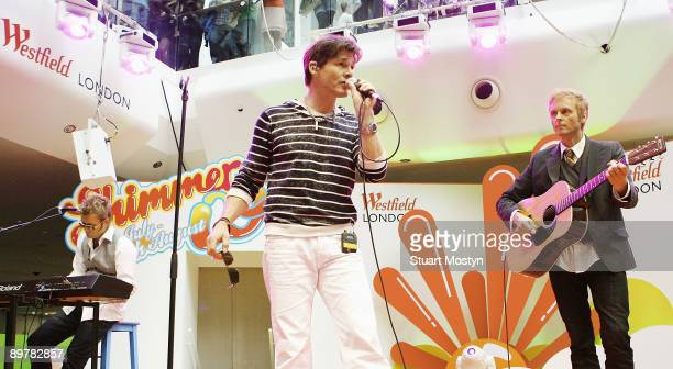 Paul WaaktaarSavoy Morten Harket and Magne Furuholmen of Norwegian pop band AHa perform a free accoustic show for fans at Westfield on July 28 2009...