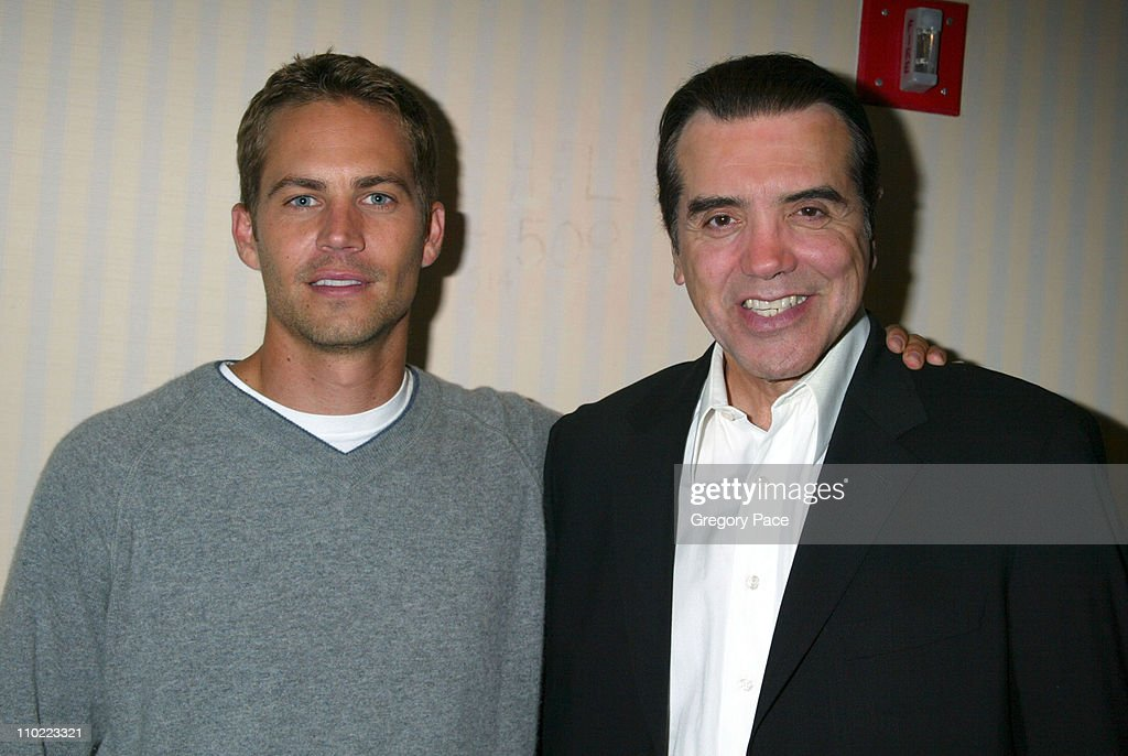 Paul Walker and Chazz Palminteri director of the film