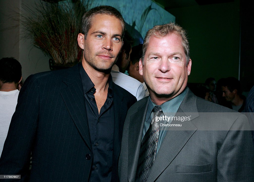 <a gi-track='captionPersonalityLinkClicked' href=/galleries/search?phrase=Paul+Walker+-+Actor&family=editorial&specificpeople=206607 ng-click='$event.stopPropagation()'>Paul Walker</a> and Dan Taylor of MGM during MGM Pictures and Columbia Pictures 'Into the Blue' Premiere - After Party at Napa Valley Grill in Westwood, California, United States.