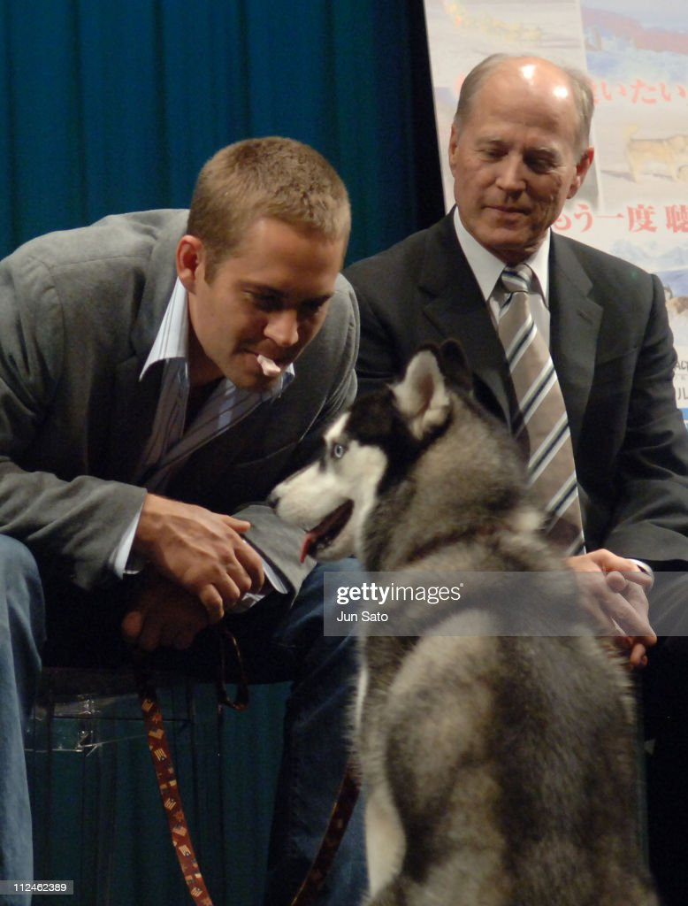 Paul Walker and Frank Marshall during 'Eight Below' Special Preview in Tokyo at Iino Hall in Tokyo Japan
