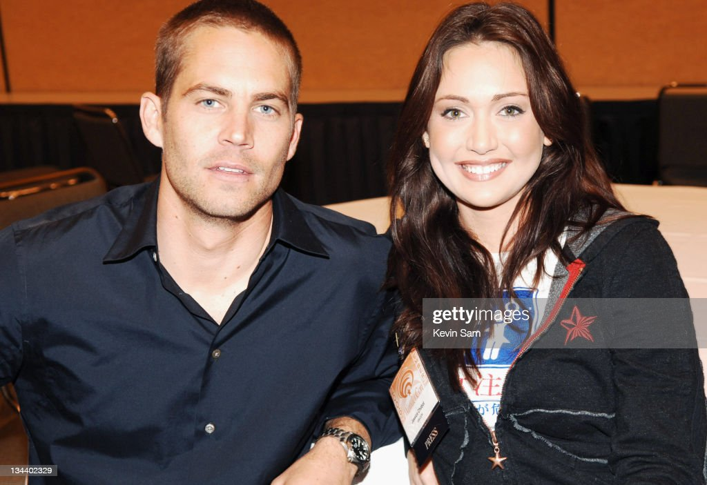 Paul Walker and guest during 2006 Wonder Con Day Two at Moscone Center West in San Francisco California United States