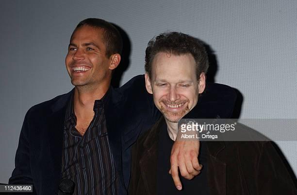 Paul Walker and Wayne Kramer during Wonder Con presents Screening and QA of Newline Cinema's 'Running Scared' at AMC Metreon in San Francisco...