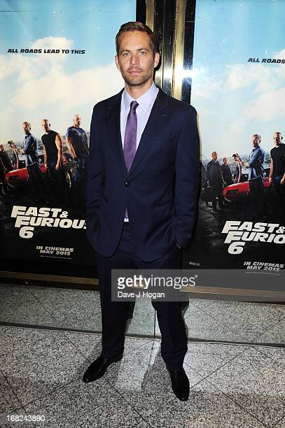 Paul Walker attends the world premiere of 'Fast And Furious 6' at The Empire Leicester Square on May 7 2013 in London England