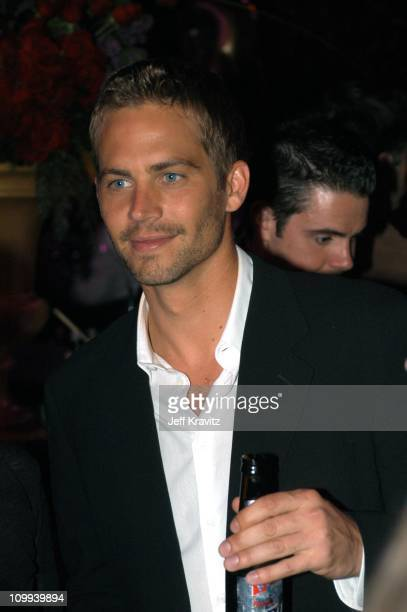 Paul Walker during 2003 MTV Movie Awards Backstage and Audience at The Shrine Auditorium in Los Angeles California United States