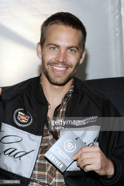 Paul WalKer during 3rd Annual Cadillac Super Bowl Grand Prix for Charity at CSX in Jacksonville Florida United States