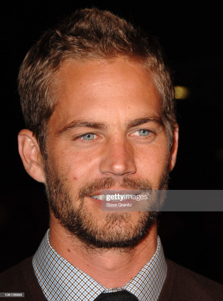 Paul Walker during 'Flags of Our Fathers' Los Angeles Premiere Arrivals at Academy Theatre in Beverly Hills California United States