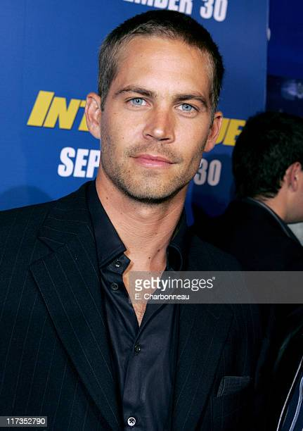 Paul Walker during MGM Pictures and Columbia Pictures 'Into the Blue' Premiere Red Carpet at Mann Village in Westwood California United States