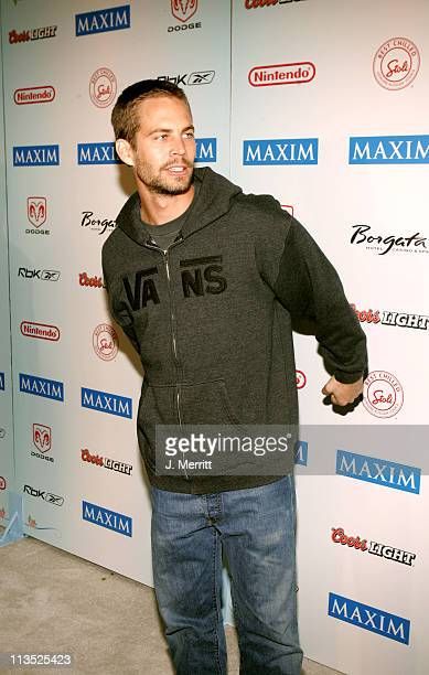 Paul Walker during Super Bowl XXXIX The 'Maximony' Super Ball Party Arrivals February 5 2005 at The Garden Club in Jacksonville Florida United States
