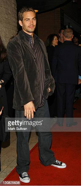 Paul Walker during 'Timeline' World Premiere Red Carpet Arrivals at Mann's National Theatre in Westwood California United States