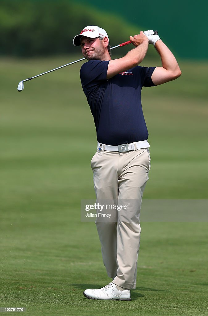 Paul Waring of England in action during day three of the Avantha Masters at Jaypee Greens Golf Club on March 16, 2013 in Delhi, India.
