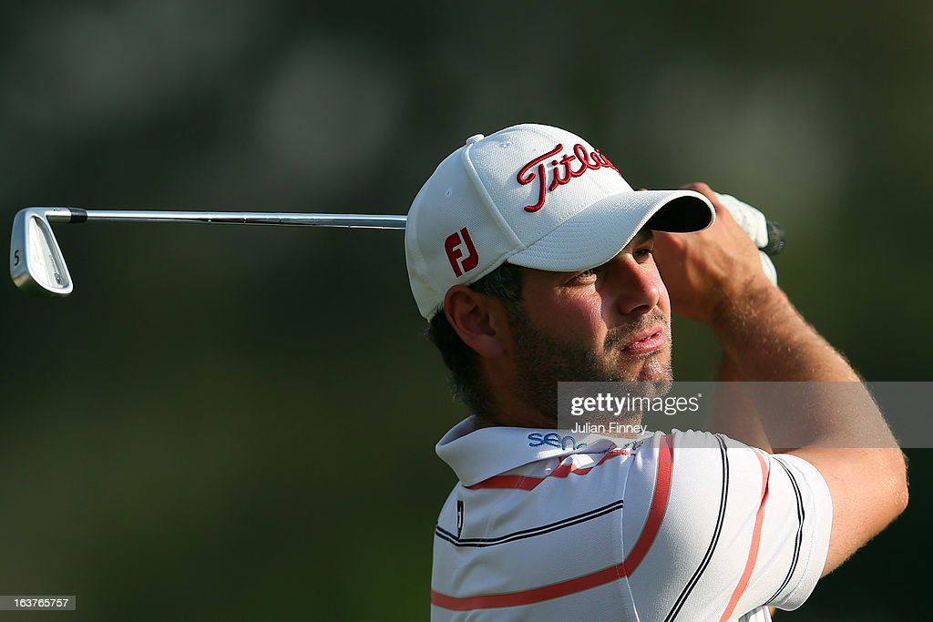 Paul Waring of England in action during day two of the Avantha Masters at Jaypee Greens Golf Club on March 15, 2013 in Delhi, India.