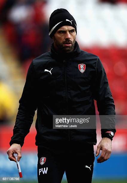 Paul Warne manager of Rotherham United looks on during The Emirates FA Cup Third Round match between Rotherham United and Oxford United at The New...