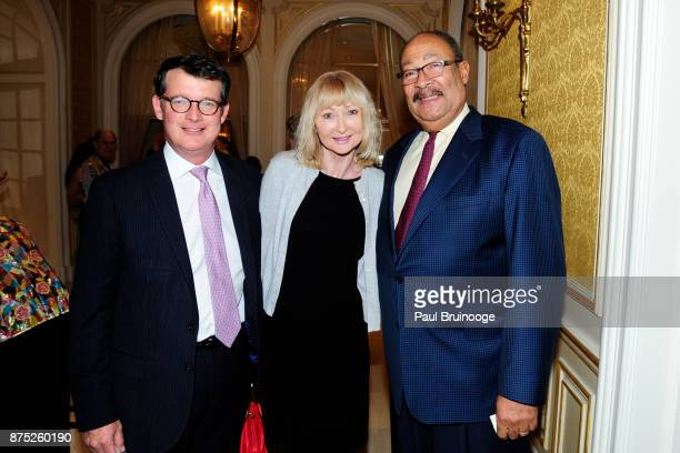 Paul Washington Janine Richardson and Dick Parsons attend the American Folk Art Museum Annual Gala at JW Marriott Essex House on November 16 2017 in...