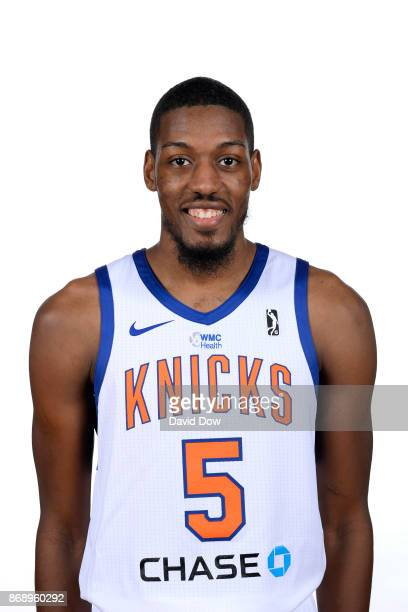 Paul Watson Jr #5 of the Westchester Knicks poses for a head shot during the NBA GLeague media day on October 31 2017 in Tarrytown New York NOTE TO...