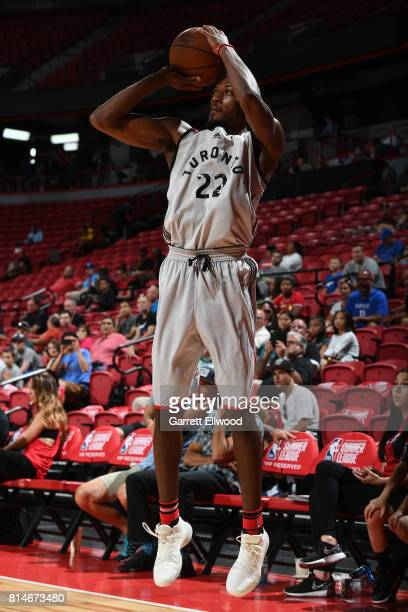 Paul Watson of the Toronto Raptors shoots the ball against the Cleveland Cavaliers on July 14 2017 at the Thomas Mack Center in Las Vegas Nevada NOTE...