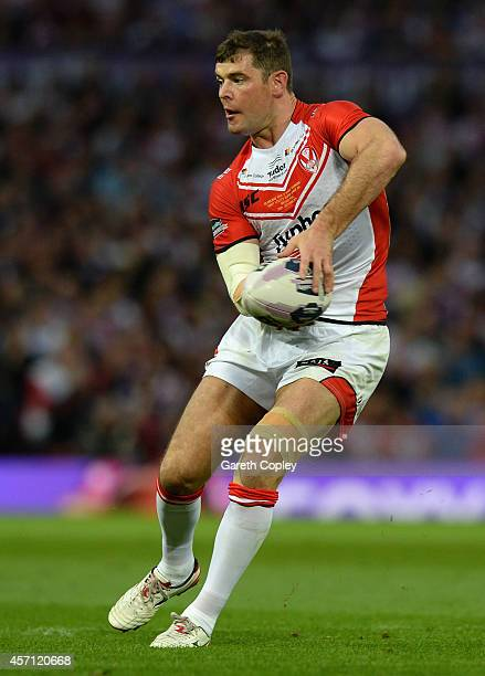 Paul Wellens of St Helens during the First Utility Super League Grand Final between St Helens and Wigan Warriors at Old Trafford on October 11 2014...