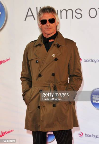 Paul Weller attends the Barclaycard Mercury Prize at the Grosvenor House Hotel on September 7 2010 in London England