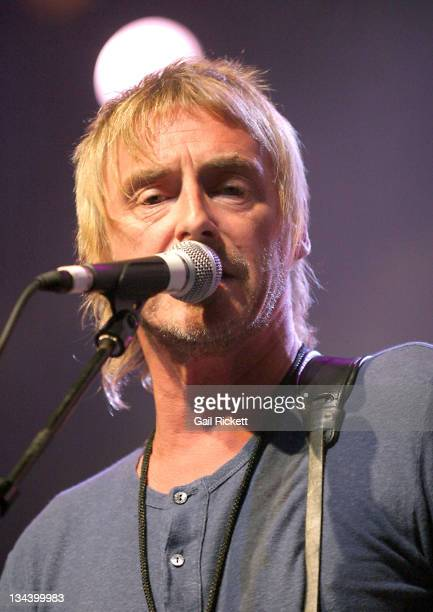 Paul Weller during Paul Weller Performs at The Summer Pops July 20 2005 at Big Top Arena in Liverpool Great Britain