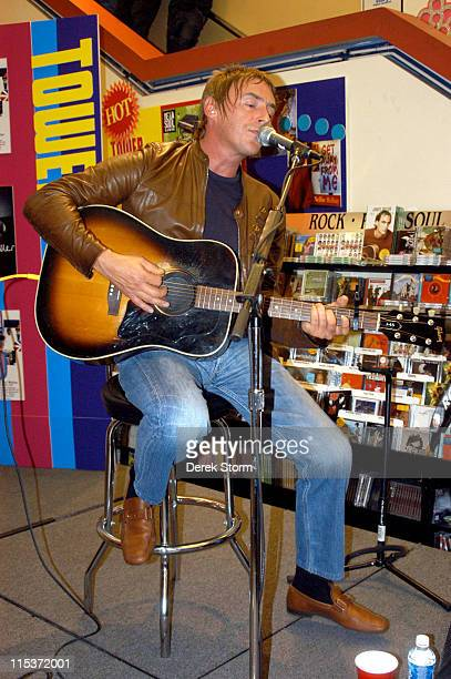 Paul Weller during Paul Weller Performs 'Studio 150' at Tower Records September 27 2004 at Tower Records Greenwich Village in New York City New York...
