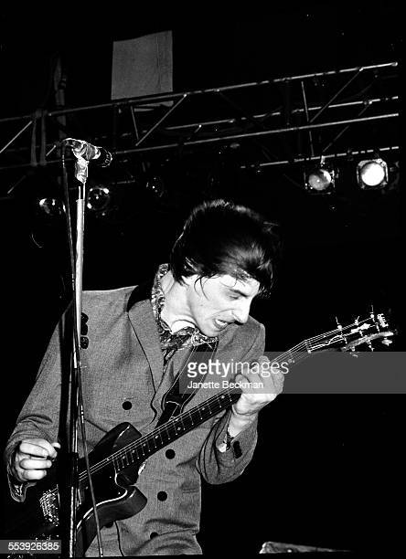 Paul Weller of The Jam performs on stage at the Loch Lomond Festival Scotland United Kingdom 21st June 1980