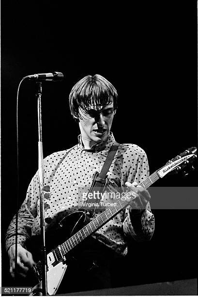Paul Weller of The Jam performs on stage at the Rainbow Theatre London 7th April 1980