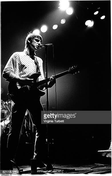 Paul Weller of The Jam performs on stage at the Rainbow Thetare London 7 April 1980