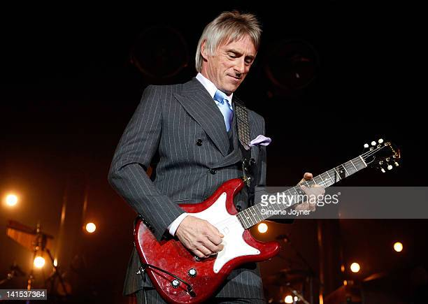 Paul Weller peforms live on stage at The Roundhouse on March 18 2012 in London United Kingdom