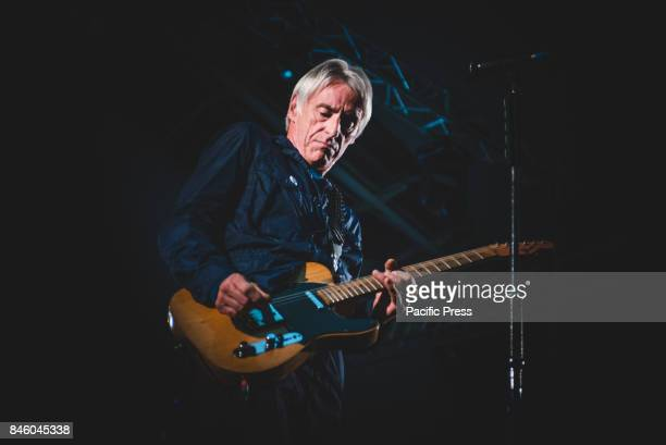 Paul Weller performing live on stage at the Porto Antico in Genova for his 'A Kind Revolution' tour 2017