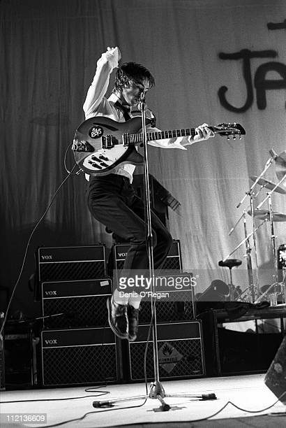 Paul Weller performing with The Jam 1977