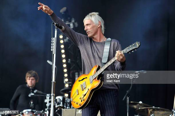 Paul Weller performs at Hard Rock Calling Day 1 at the Queen Elizabeth Olympic Park on June 29 2013 in London England