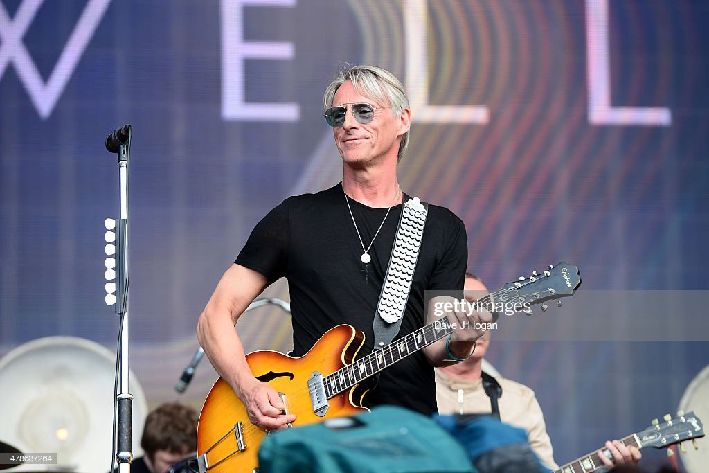 Paul Weller performs at the Barclaycard British Summertime gigs at Hyde Park on June 26, 2015 in London, England.