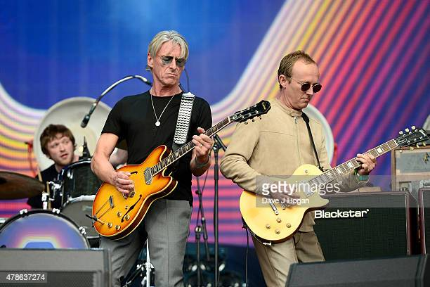 Paul Weller performs at the Barclaycard British Summertime gigs at Hyde Park on June 26 2015 in London England