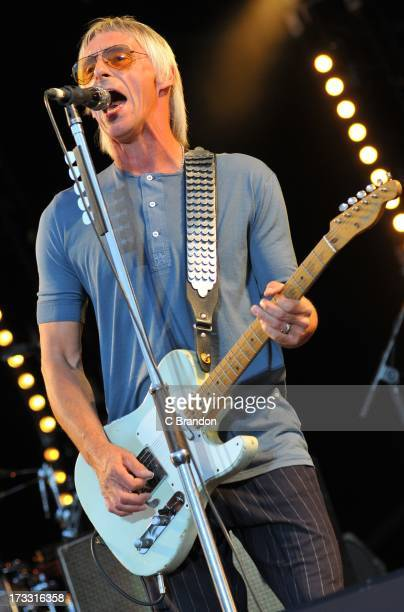 Paul Weller performs on stage at Kew Gardens on July 11 2013 in London England