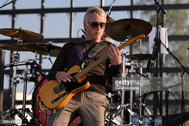 Paul Weller performs on stage at Riot Fest Chicago 2014 at Humboldt Park on September 13 2014 in Chicago United States