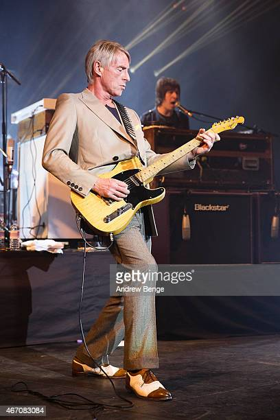 Paul Weller performs on stage at The Barbican Centre in York on March 20 2015 in York England