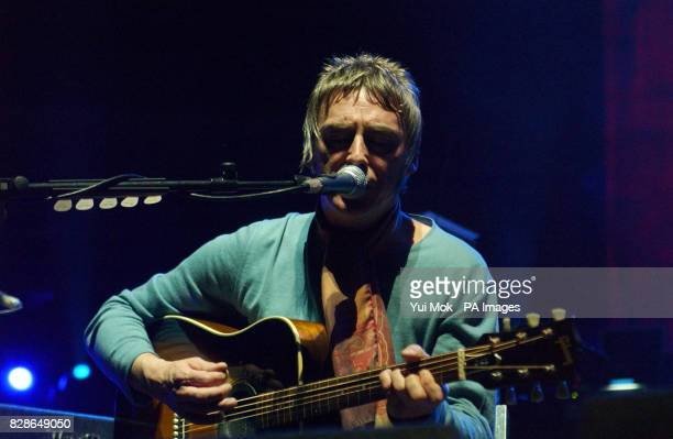 Paul Weller performs on stage during the third in a series of special concerts for the Teenage Cancer Trust Charity at the Royal Albert Hall in...