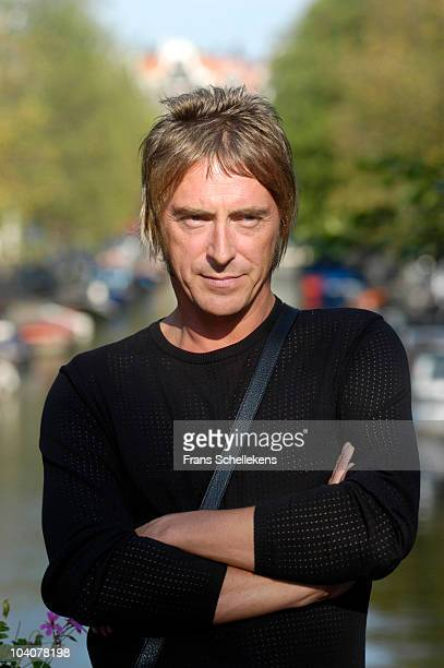Paul Weller poses for a portrait at Studio 150 on September 18 2003 in Amsterdam Netherlands