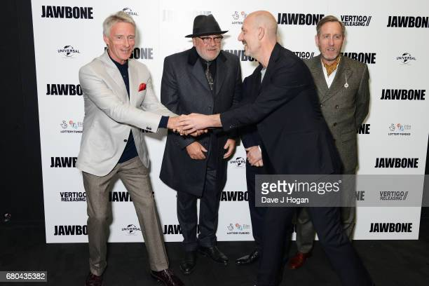 Paul Weller Ray Winstone Barry McGuigan Michael Smiley and Johnny Harris attend the 'Jawbone' UK premiere at BFI Southbank on May 8 2017 in London...