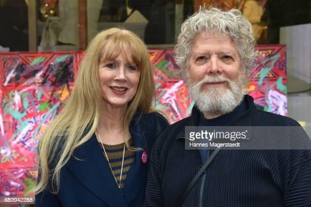 Paul Werner and Ute Cremer during 'Maximilian Seitz EinwicklungenImpressionismusFest im Orient' Exhibition Opening at Susanne Wiebe Fashion Store on...