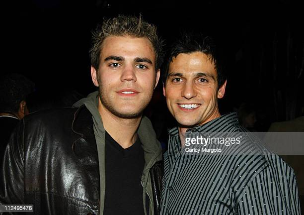 Paul Wesley and guest during VH1 Save The Music A Concert To Benefit The VH1 Save The Music Foundation After Party at Aer in New York City New York...