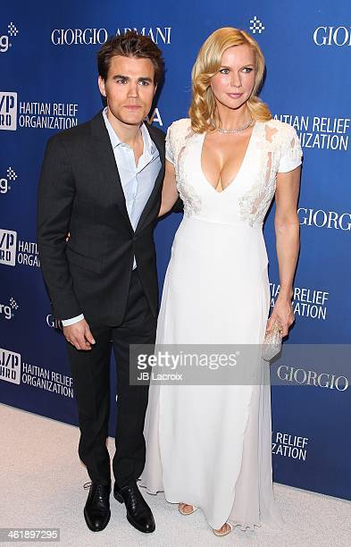 Paul Wesley and Veronica Ferres attend the Sean Penn 3rd Annual Help Haiti Home Gala Benefiting J/P HRO Presented By Giorgio Armani at Montage...