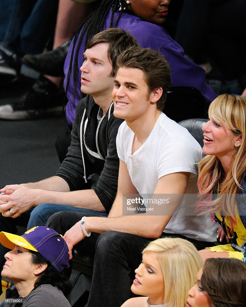 <a gi-track='captionPersonalityLinkClicked' href=/galleries/search?phrase=Paul+Wesley&family=editorial&specificpeople=693176 ng-click='$event.stopPropagation()'>Paul Wesley</a> attends an NBA playoff game between the San Antonio Spurs and the Los Angeles Lakers at Staples Center on April 28, 2013 in Los Angeles, California.