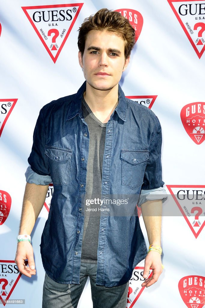 <a gi-track='captionPersonalityLinkClicked' href=/galleries/search?phrase=Paul+Wesley&family=editorial&specificpeople=693176 ng-click='$event.stopPropagation()'>Paul Wesley</a> attends the GUESS Hotel at the Viceroy Palm Springs on April 12, 2014 in Palm Springs, California.